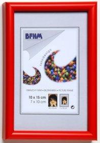 Obrazový rám BF A s antireflexním sklem barva červená lesk