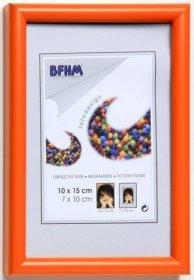Obrazový rám BF A s antireflexním sklem barva oranžová lesk