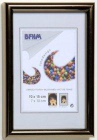 Obrazový rám BF P/A plexisklo antireflex, barva zlatá proužek lesk
