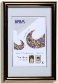 Obrazový rám BF A s antireflexním sklem barva zlatá proužek lesk