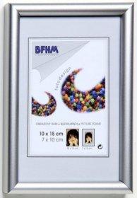 Obrazový rám BF P/R plexisklo lesk barva elox stříbrná matná