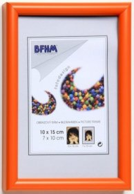 Obrazový rám BF P/A plexisklo antireflex, barva oranžová lesk