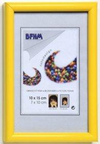 Obrazový rám BF P/A plexisklo antireflex, barva žlutá lesk