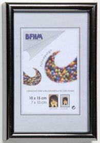 Obrazový rám BF K sklo lesklé barva stříbrná proužek lesk