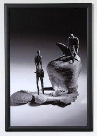 Scénická fotografie, autorka plastik Vojtěška Vlčková Křest v Jordánu.