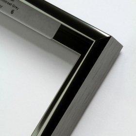 Nielsen aluminiový profil 11, kontrastní šedá - lesk