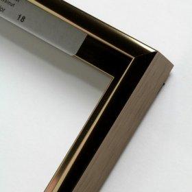Nielsen aluminiový profil 11, oříšková - lesk