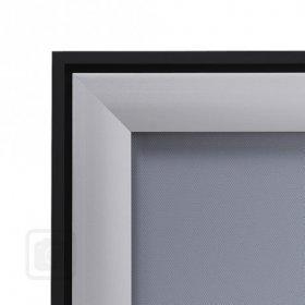 Design klaprám profil lišty 37 mm  ostré rohy COMPASSO Blackline