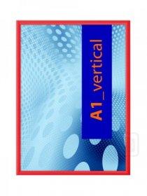 Klaprám profil lišty 25 mm  ostré rohy COLOUR RAL3020 červená