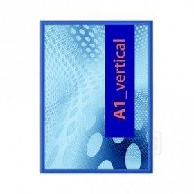 Klaprám profil lišty 25 mm  ostré rohy COLOUR RAL5010 modrá