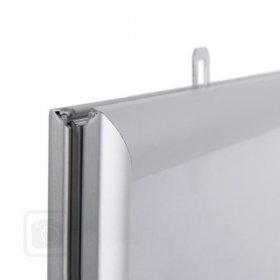 Oboustranný klaprám profil lišty 25 mm  ostré rohy