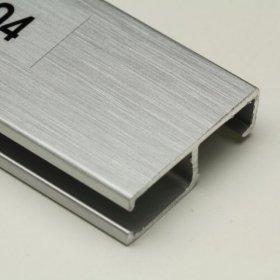 Nielsen závěsná lišta Profi délka 3 m stříbrná matná
